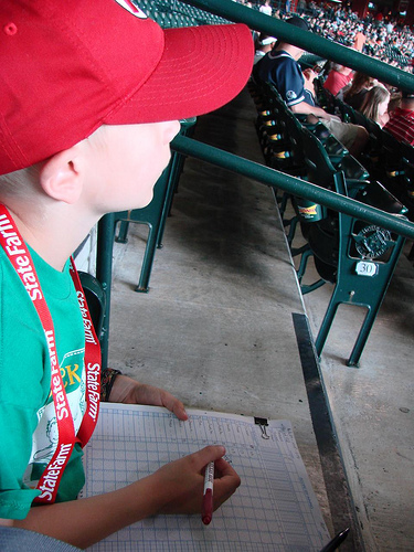 Keeping score at an Astros game