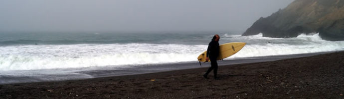 Wordless Wednesday: Surfers in the fog